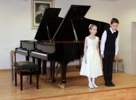 Фортепианный дуэт Мария Данилина и Михаил Устьянцев